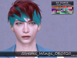 Sims 4 — [Ts4]Taty_Streaks_Wings_OE0520 by tatygagg — - This is a costume makeup which allows to add color streaks to the