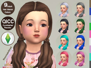 Sims 4 — Toddler Cynthia Hair Recolor by jeisse197 — Mesh is NOT includ, please read required and dowload mesh first