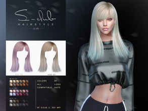 Sims 4 — sclub_ts4_LL hair_n83 by S-Club — The Straight short hair for The Sims 4. 36 swatches, hope you like, thank you!