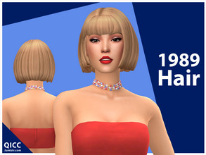 Sims 4 — 1989 Hair (Patreon) by qicc — - Maxis Match - Base game compatible - Hat compatible - Teen - Elder - 18 EA
