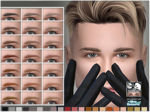 Sims 4 — Eyebrows 20 by BAkalia — Hello :) Eyebrows category 21 swatches Child to Elder All gender I don't use HQ mod