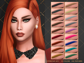 Sims 4 — JUL_HAOS [COSMETIC] [MM] EYEBROWS #20 by Jul_Haos — - CATEGORY: EYEBROWS - COLORS: 18 - GENDER: FEMALE - HQ