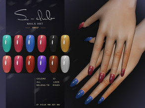 Sims 4 — S-Club ts4 WM Nails 202107 by S-Club — Nails, 22 swatches, hope you like, thank you!