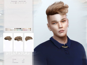 Sims 4 — WINGS-TO0503 by wingssims — Colors:36 All lods Compatible hats Hope you like it!