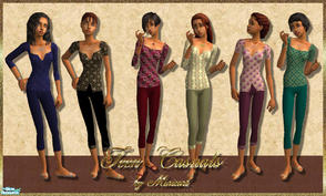 Sims 2 — Teen Casuals by minicart — A set of six pretty casual outfits for your teen Sim.