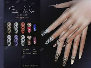 Sims 4 — S-Club ts4 WM Nails 202106 by S-Club — Nails 10 swatches, hope you like, thank you!!
