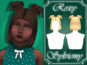 Sims 4 — Roxy Hairstyle (Child) by Sylviemy — New Mesh Maxis Match All Lods Base Game Compatible Hat Compatible Child