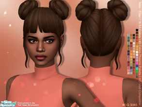 Sims 4 — Alena Hair by MSQSIMS — - Base Game - Teen - Elder - Female - New Maxis Match Hair Texture - 18 EA Colors (New