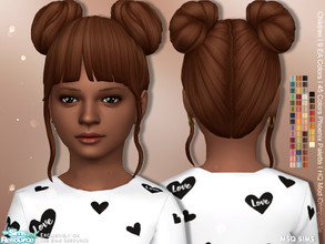 Sims 4 — Alena Hair Children by MSQSIMS — - Base Game - Children - Female - New Maxis Match Hair Texture - 9 EA Colors