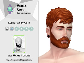 Sims 4 — Facial Hair Style 13 [Non-Exclusive] by David_Mtv2 — This facial hair: is a recolor from base game; contains all
