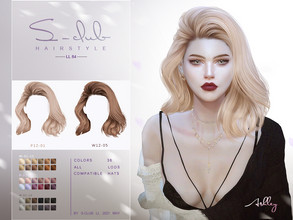 Sims 4 — sclub_ts4_LL hair_n84 by S-Club — The curly hair for The Sims 4. 36 kinds of color . Hope you enjoy it!Don't