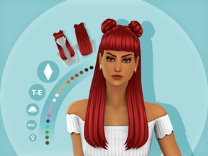 Sims 4 — Viola Hairstyle by simcelebrity00 — Hairstyle: - Maxis Match Hairstyle - Available for Teens-Elders - 18 EA
