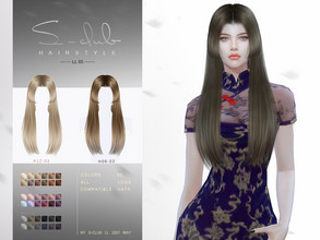 Sims 4 — sclub_ts4_LL hair_n85 by S-Club — The Asian hair style for Sims 4. 30 swatches, hope you like, thank you!
