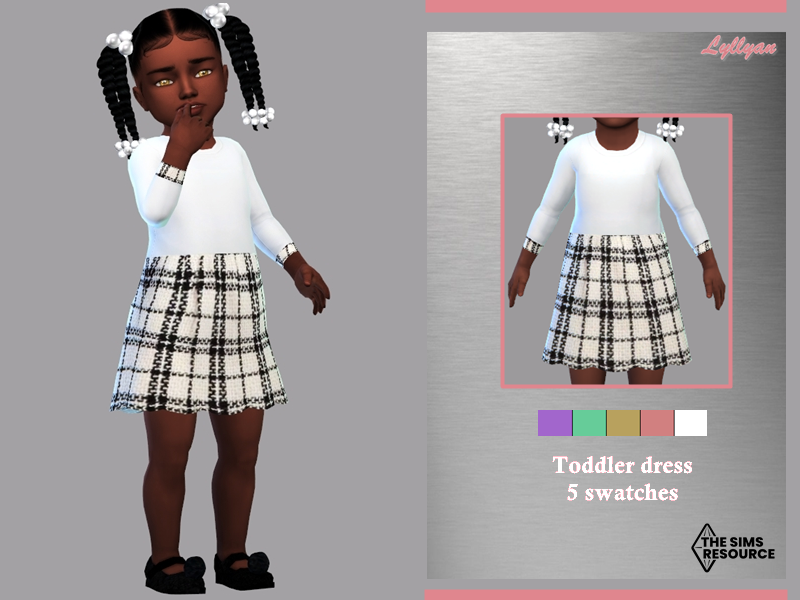 Sims 4 — Toddler dress Susy by LYLLYAN — Toddler dress in 5 swatches.