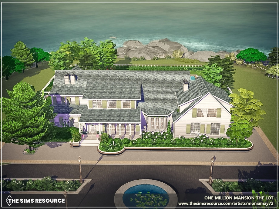Sims 4 — One Million Mansion The Lot by Moniamay72 — Beautifully landscaped and elaborate plot, the large area includes 8
