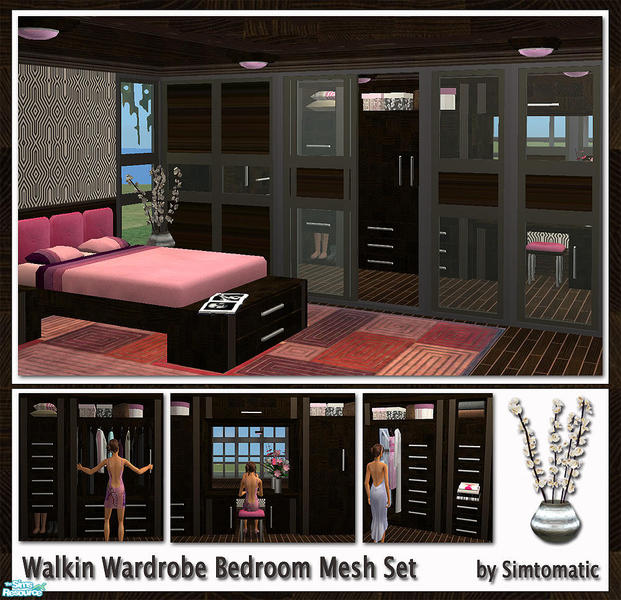 simtomatic s walkin wardrobe bedroom mesh set