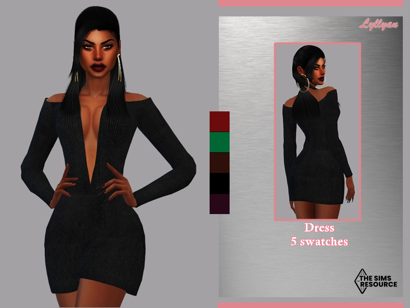 Sims 4 — Short Dress - Camilla by LYLLYAN — Short dress in 5 swaches