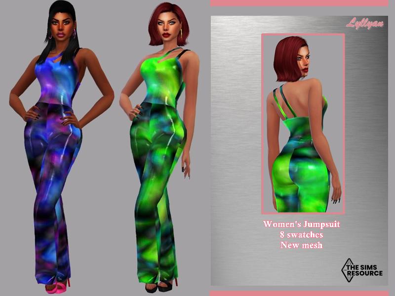 Sims 4 — Women's Jumpsuit - Eliany by LYLLYAN — Women's Jumpsuit in 8 swatches