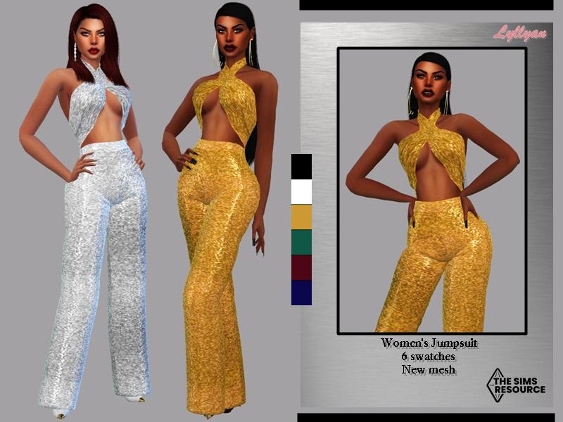 Sims 4 — Women's Jumpsuit - Kelly by LYLLYAN — Women's Jumpsuit in 6 swatches.