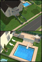 Sims 2 — Swanly Avenue by Lil-Kiki — This is a Large modern home with a good sized garden and a pool. All of the rooms