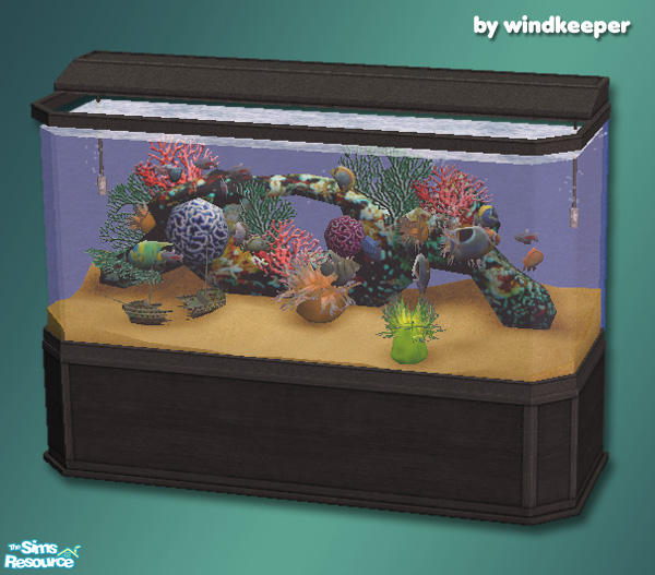 Windkeeper's saltwater aquarium golden sand.