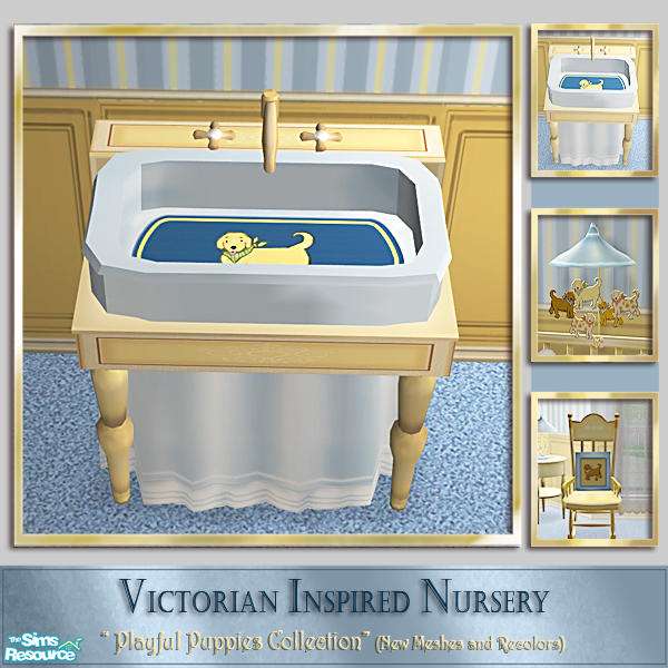Cashcraft39s playful puppies nursery baby bath tub for Baby bathroom needs sims freeplay