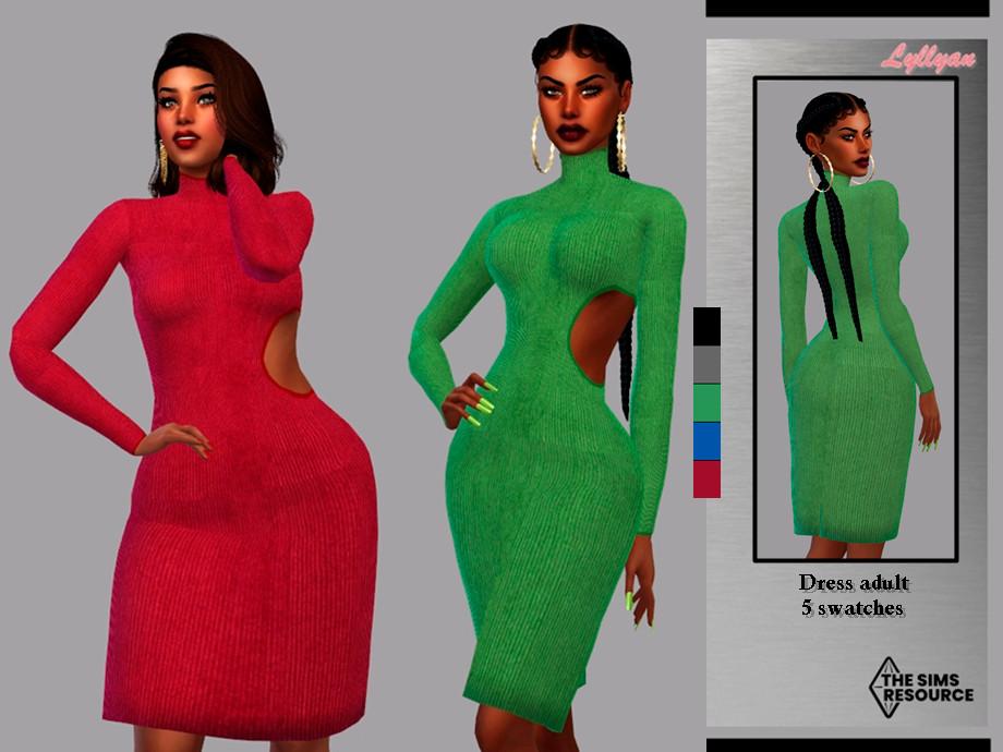 Sims 4 — Dress - Karen by LYLLYAN — Dress in 5 swatches.