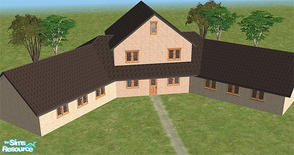Sims 2 — Dunroamin by Chrmd — A two bed home with two en-suite bathrooms. Plenty of land at the back, and front. More