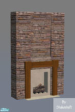 Downloads / Sims 2 / Objects / Build Mode / Fireplaces - 'stone'