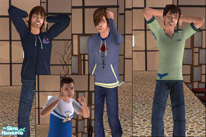 Sims 2 — Sporty Teen wear by macthekat — I have made a set of 4 nice and sporty outfits for the overlooked teen boys. I