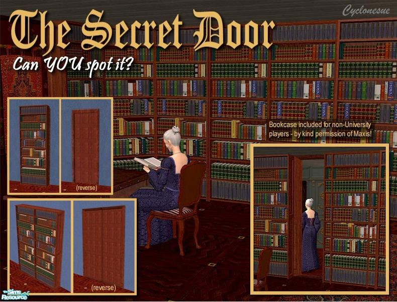 Secret Bookcase Doors  sc 1 st  The Sims Resource & Cyclonesue\u0027s Secret Bookcase Doors
