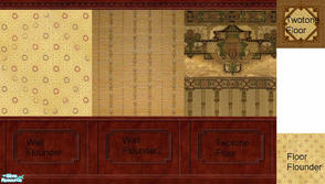 Sims 2 — Flounder Twotone Set by Purpleto280 — Based on my passion for the need of old fashion wall papers and floors I