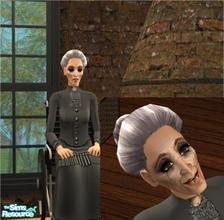 Sims 2 — Joan Crawford as Blanche Hudson by Small Town Sim — Mega Stars of the Past Series Sim versioon of Joan Crawford,