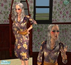 Sims 2 — Bette Davis as Baby Jane Hudson by Small Town Sim — Mega Stars of the Past Series Sim versioon of Bette Davis,