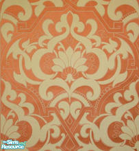 Sims 2 — orangeful floor by Purpleto280 — matching wall paper can be found in my profile , these go great together.