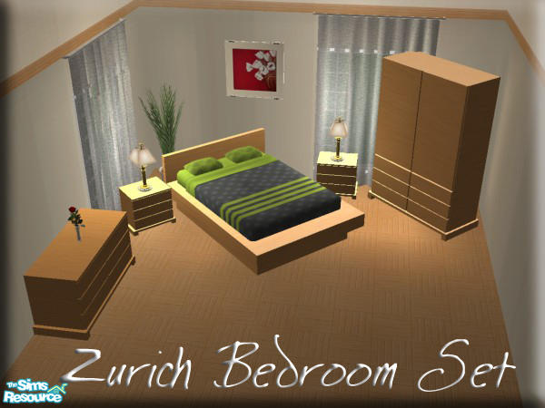 Sim man123 39 s zurich bedroom set for Bedroom furniture zurich