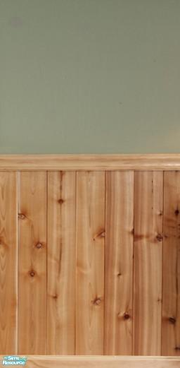 Half Wall Wood Paneling: FluffyAuntyDi's Knotty Pine Half Wall Paneling