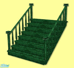 Sims 2 — High Society Stairs in green by chrissy6930 — Recolor of my High Society Stairs in green. IMPORTANT: please read