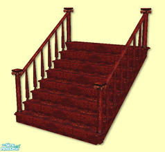 Sims 2 — High Society Stairs in brown by chrissy6930 — Recolor of my High Society Stairs in brown. IMPORTANT: please read