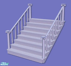 Sims 2 — High Society Stairs in light blue by chrissy6930 — Recolor of my High Society Stairs in light blue. IMPORTANT: