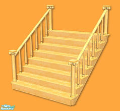 Sims 2 — High Society Stairs in apricot by chrissy6930 — Recolor of my High Society Stairs in apricot. IMPORTANT: please