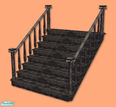Sims 2 — High Society Stairs in black by chrissy6930 — Recolor of my High Society Stairs in black. IMPORTANT: please read