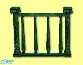 Sims 2 — High Society Fence in green by chrissy6930 — High Society Fence in green. Any expansion pack required to work.