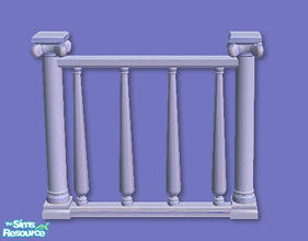 Sims 2 — High Society Fence in light blue by chrissy6930 — High Society Fence in light blue. Any expansion pack required