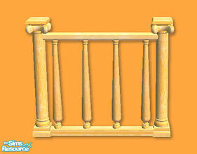Sims 2 — High Society Fence in apricot by chrissy6930 — High Society Fence in apricot. Any expansion pack required to