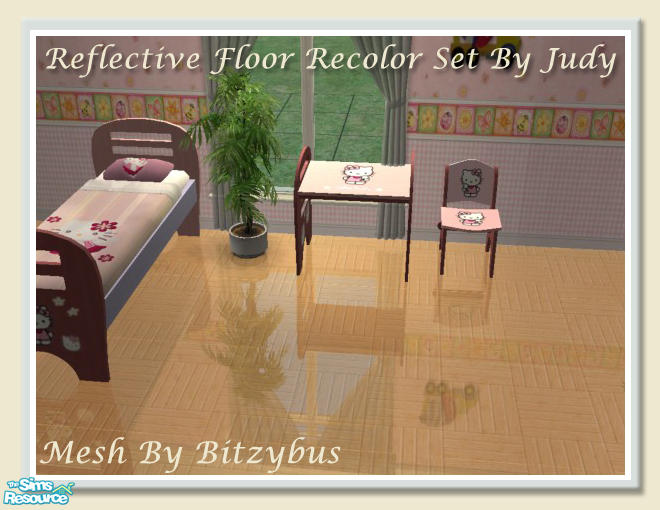 judyhugsnoopy\'s Judy Reflective Floor - Perfect Parquet