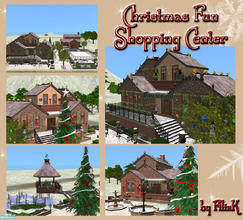 Sims 2 — Christmas Fun Shopping Center by filizk — For Christmas shopping, here is your first stop. You\'ll find