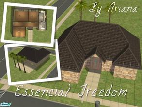 "Sims 2 — Essencial Freedom by Ariana31Player — This is the first of an ""Essencial\"" series of starter houses"