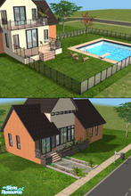 Sims 2 — 1 bed modern home by Lil-Kiki — Here it is, the perfect new, modern home for your sims to start their new lives,