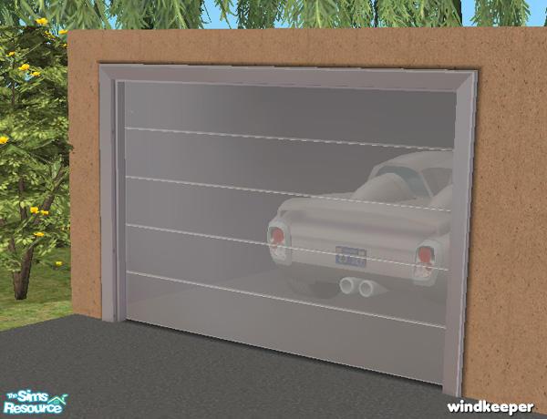 Windkeeper S Glass Garage Door Grey